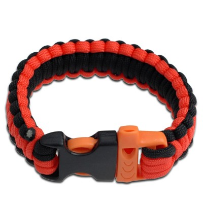 Paracord armband svart/orange